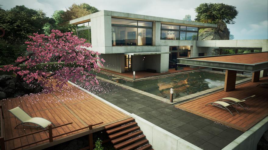 Zen Garden de Epic Games con Unreal Engine 4 para iOS DRL