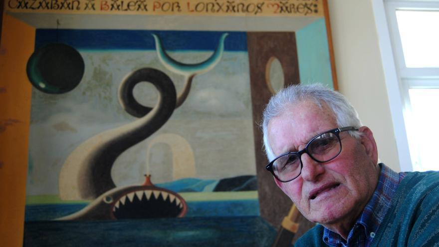 Manuel Verdes en la Casa do Pescador de Malpica.