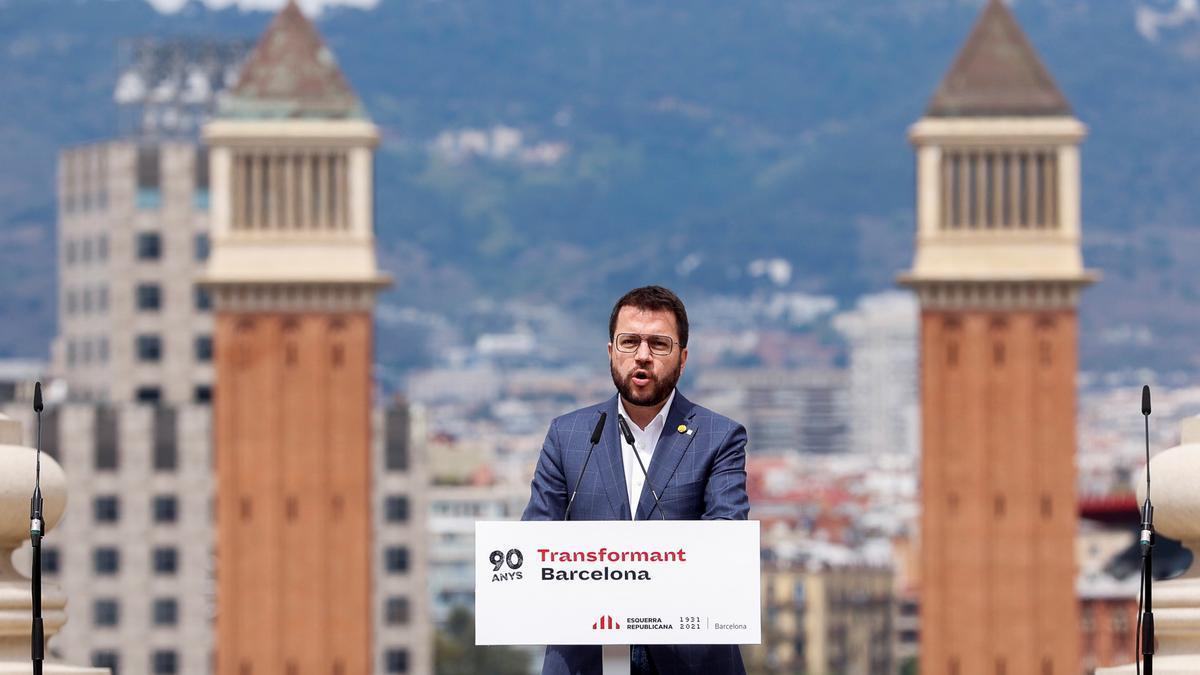 El candidato de ERC a la presidencia de la Generalitat, Pere Aragonès, este fin de seman