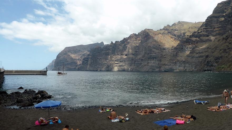 Playa de los Guíos, en el sur de Tenerife