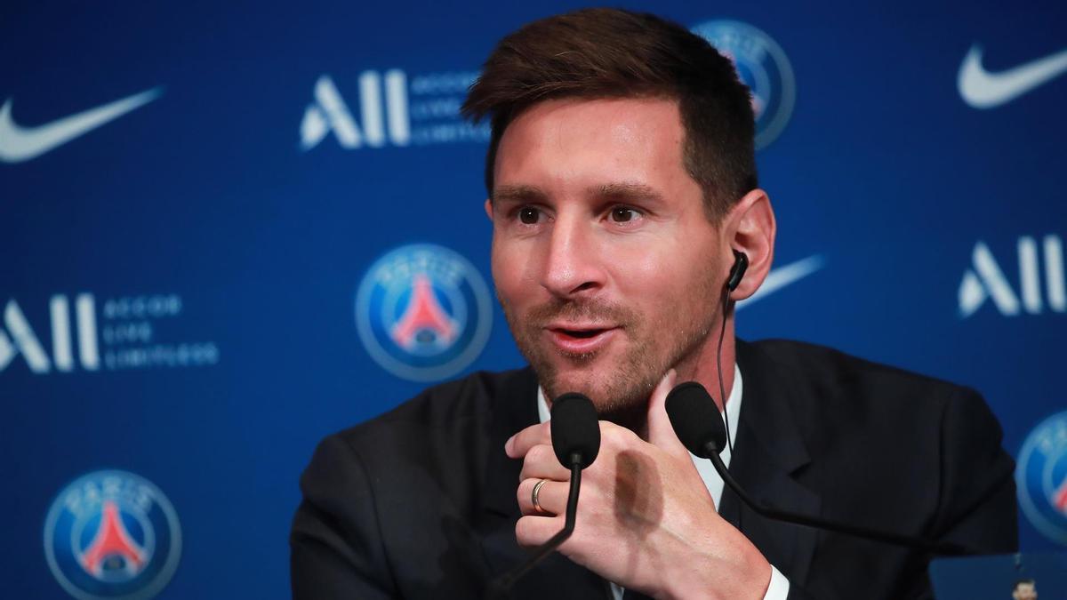 Messi en conferencia de prensa