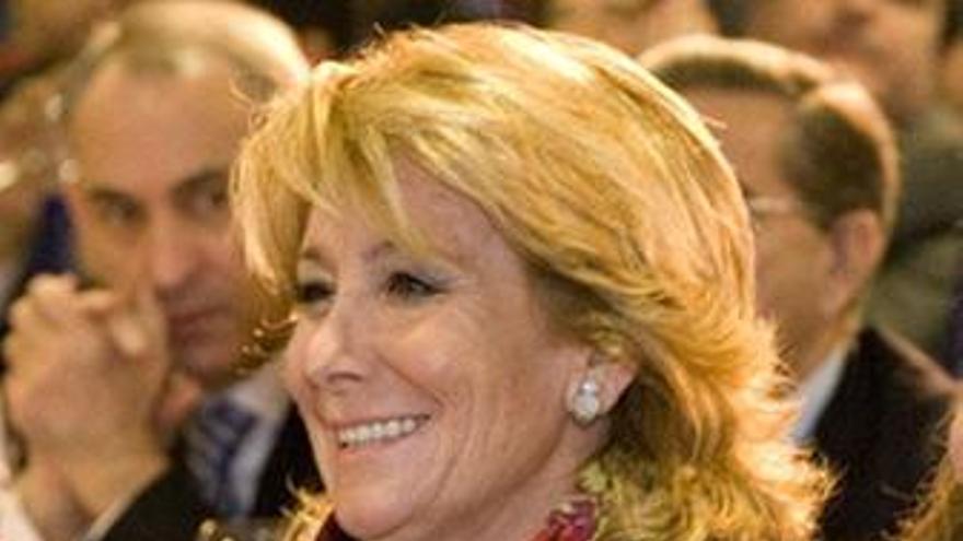 Esperanza Aguirre, en un mitín en Madrid