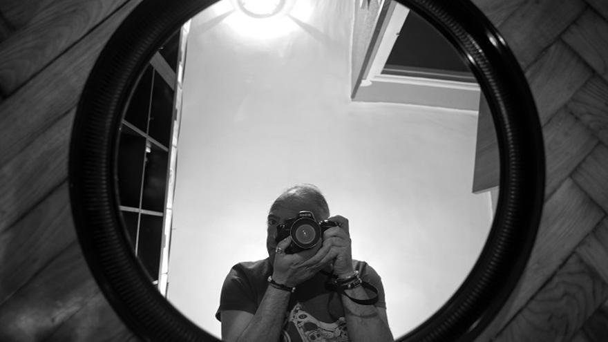 El fotoperiodista Joaquín Gómez Sastre, impulsor del proyecto.