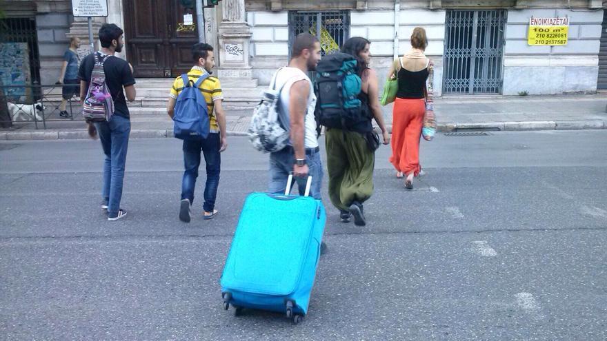 refugiados Atenas