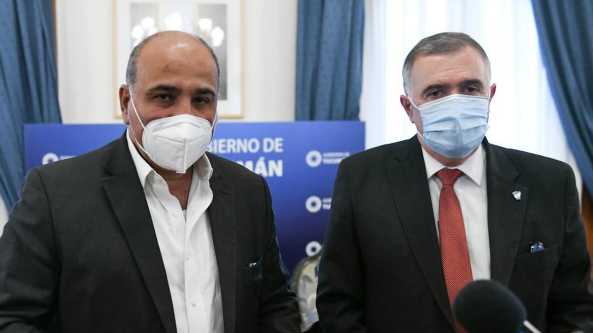 Manzur y Jaldo, en la Casa de Gobierno, tras resolver los detalles de la transición