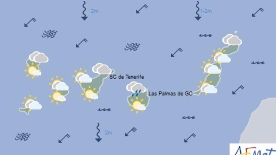 mapa del tiempo de la Aemet para este domdingo, 10 de septiembre de 2017.