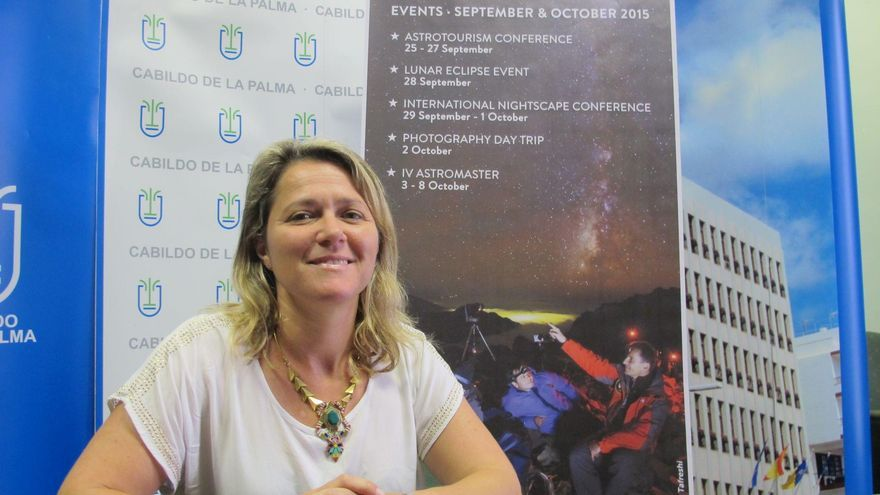 Alicia Vanoostende, consejera de Turismo del Cabildo de La Palma.