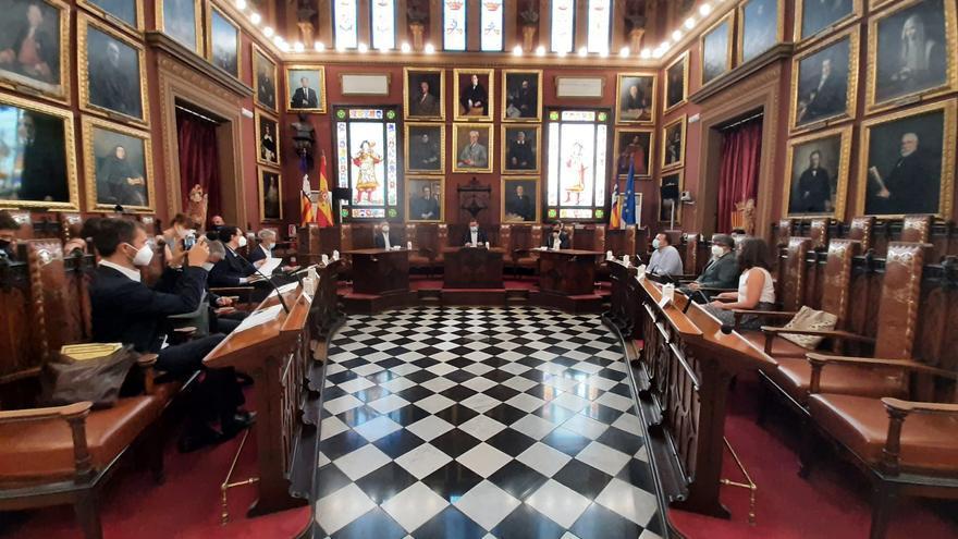 Reunión del equipo de Cort con el secretario de Estado para la Unión Europea, Juan González-Barba, y con el ministro adjunto de Asuntos Europeos de Alemania, Michael Roth
