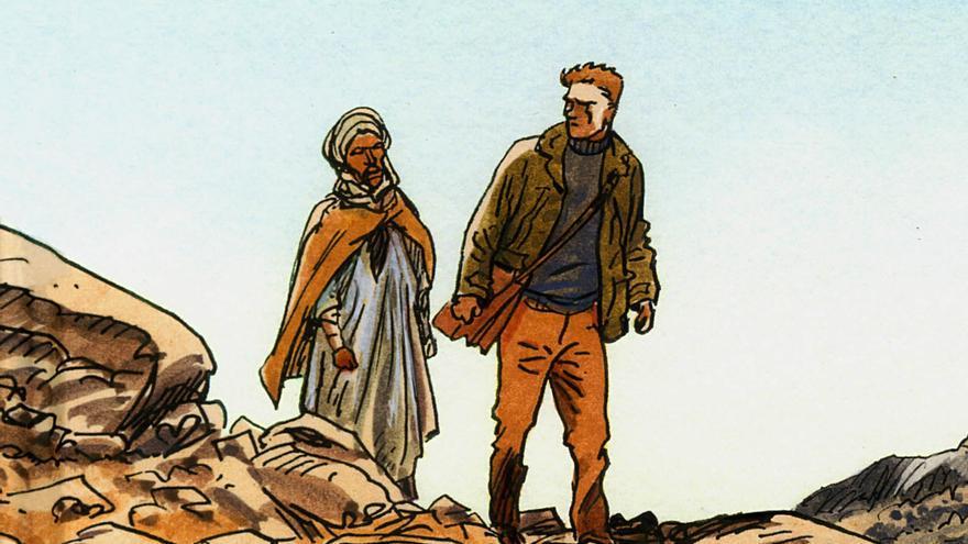 Viñeta de la edición ilustrada de 'El Huésped', por Jacques Ferrandez/ Imagen cedida por Norma Editorial