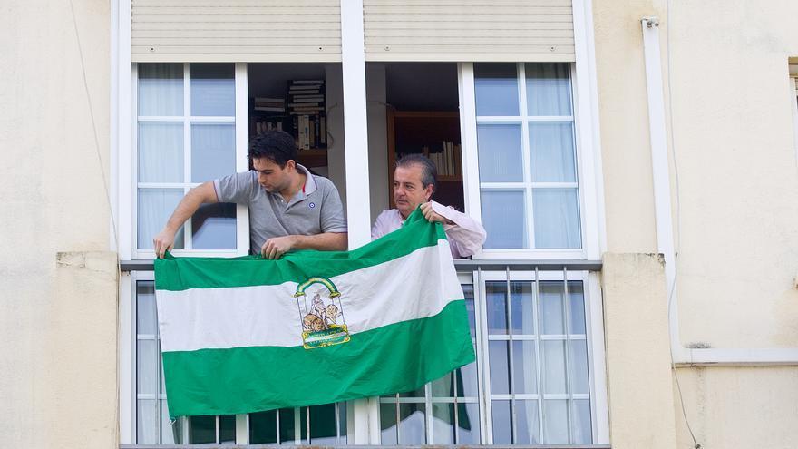 Banderas de Andalucía con motivo del 28F/Foto: Luis serrano