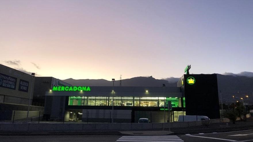 Supermercado eficiente de Mercadona en Güímar