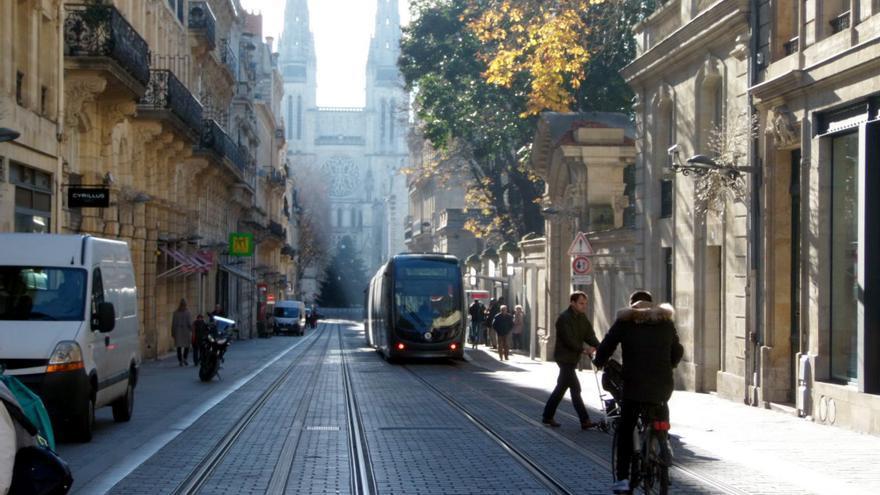 Tranvía en el centro histórico.