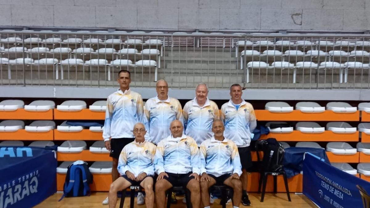 Integrantes de la selección canaria en Linares.