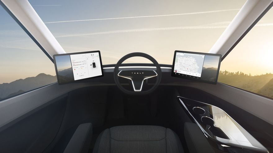 El interior del Tesla Semi
