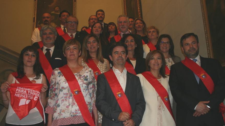 Concejales del Ayuntamiento de Huesca al comienzo de la legislatura.