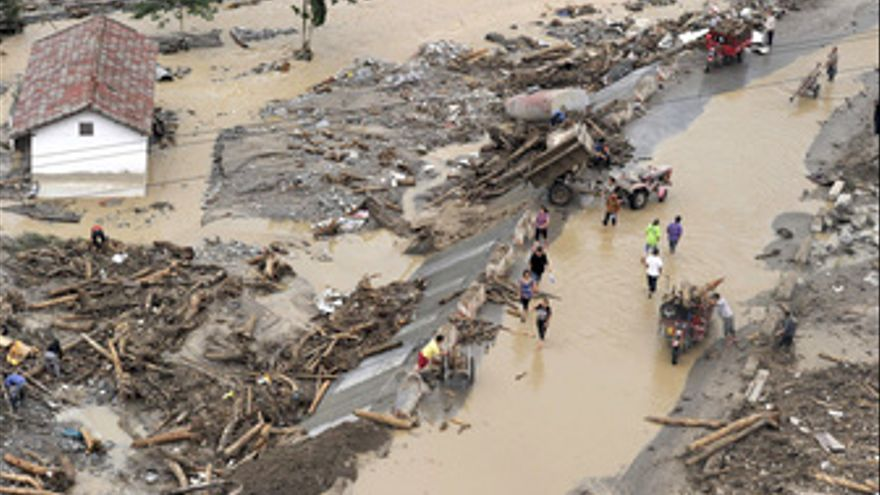 Intensas lluvias en China