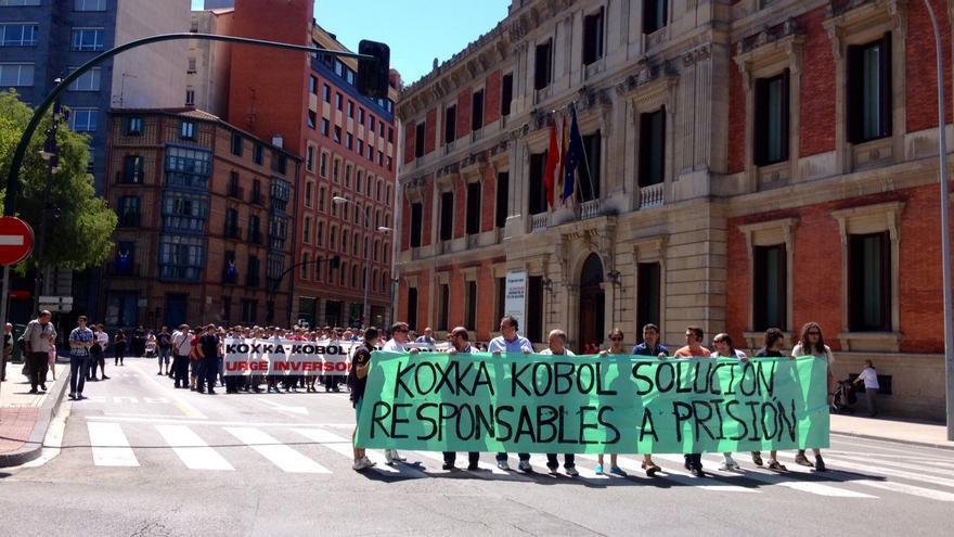 Una manifestación de los trabajadores de Koxka.