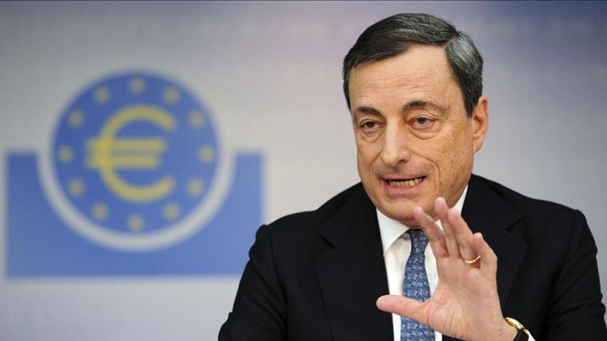 """Draghi ve """"prematuro declarar una victoria"""" en la economía de la zona euro"""
