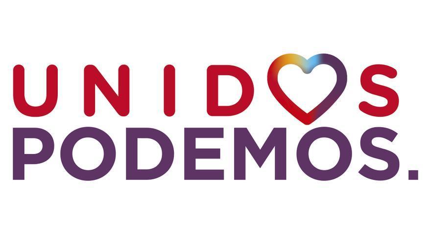 Versión de IU del logo de la candidatura Unidos Podemos.