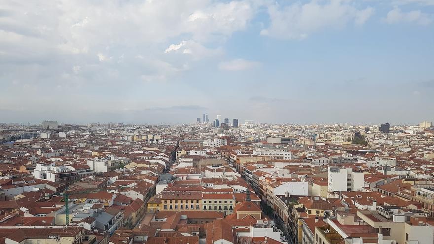 Vista panorámica desde la Gran Vía de Madrid.