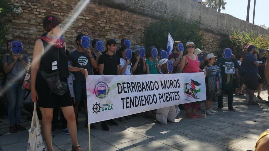 Llegada de la caravana rompiendo fronteras 2019 a Sevilla /Foto: C.P.A.