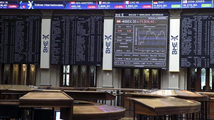 La banca lastra el IBEX, que cede un 0,25 % y permanece por debajo de 11.300