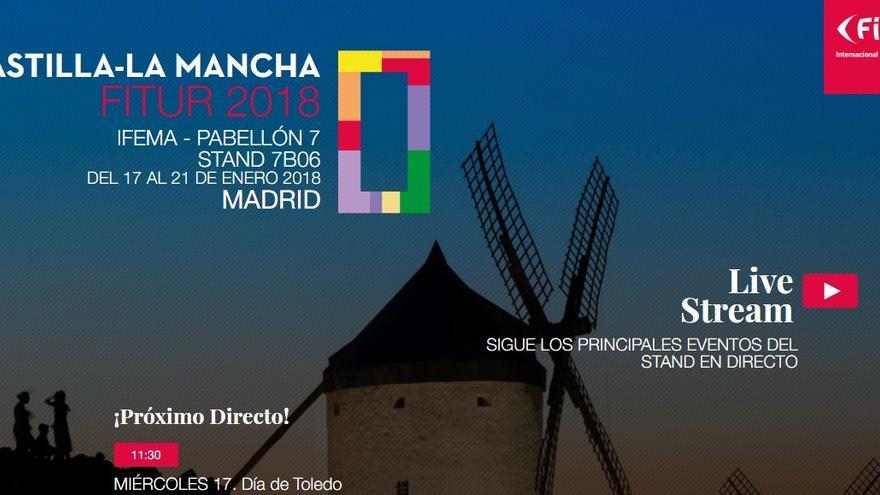 La actividad de Castilla-La Mancha en FITUR 2018 podrá seguirse vía streaming
