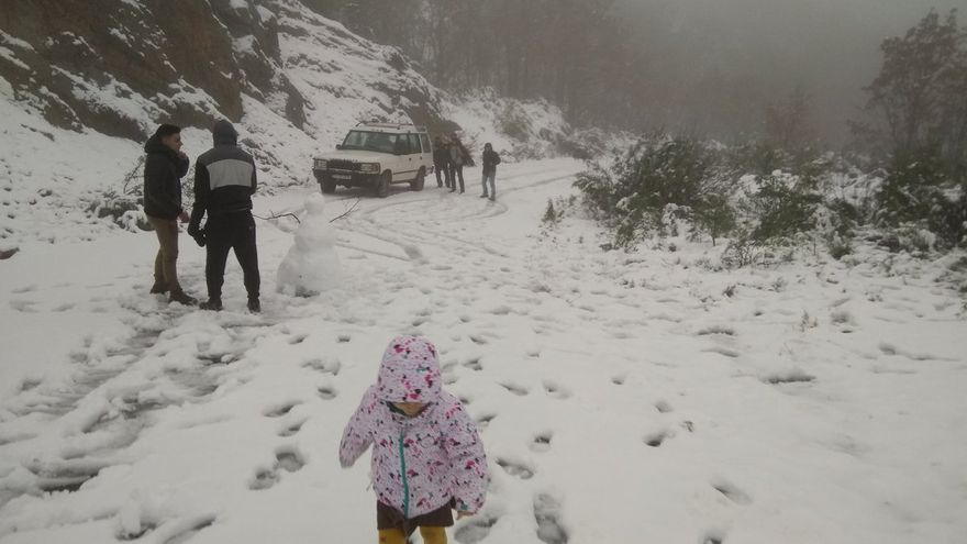Villuercas nieve Extremadura