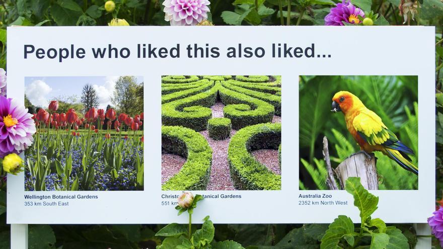 Las sugerencias en los jardines del parque Brookland, uno de los más conocidos de Nueva Plymouth
