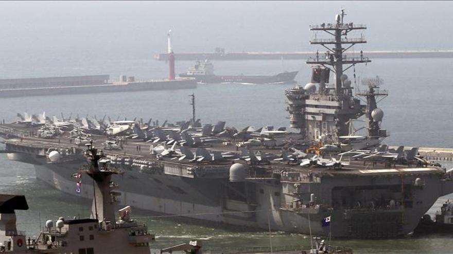 Corea del Sur y EEUU inician maniobras con portaaviones nuclear