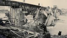 El puente de Lleida, tal y como se lo encontraron las tropas franquistas