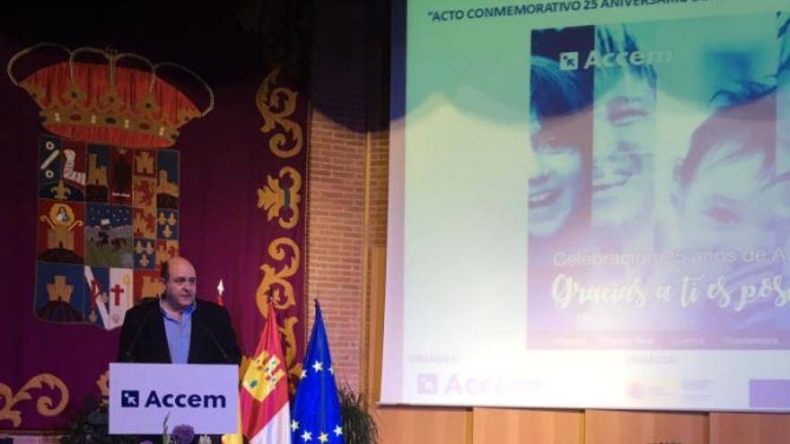 Braulio Carlés en el acto de aniversario de los 25 años de ACCEM