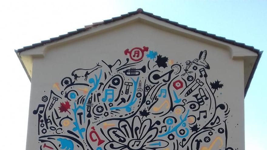 Mural de Ramales enmarcado en los ODS.