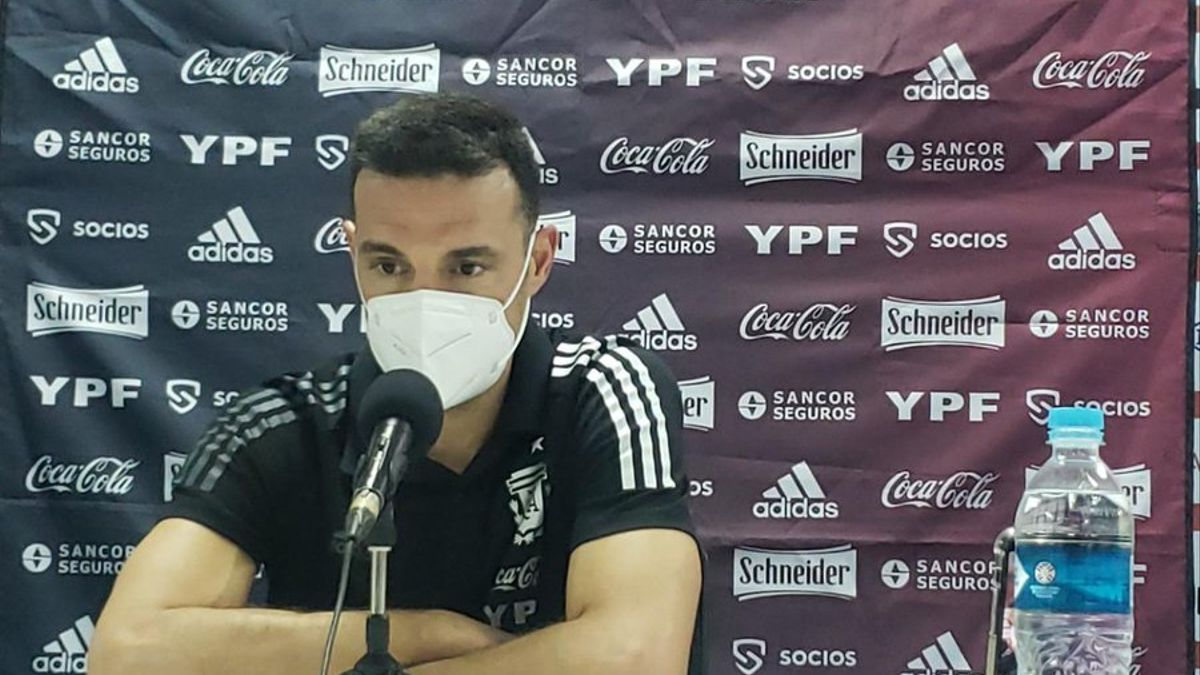 El DT de Argentina, Lionel Scaloni