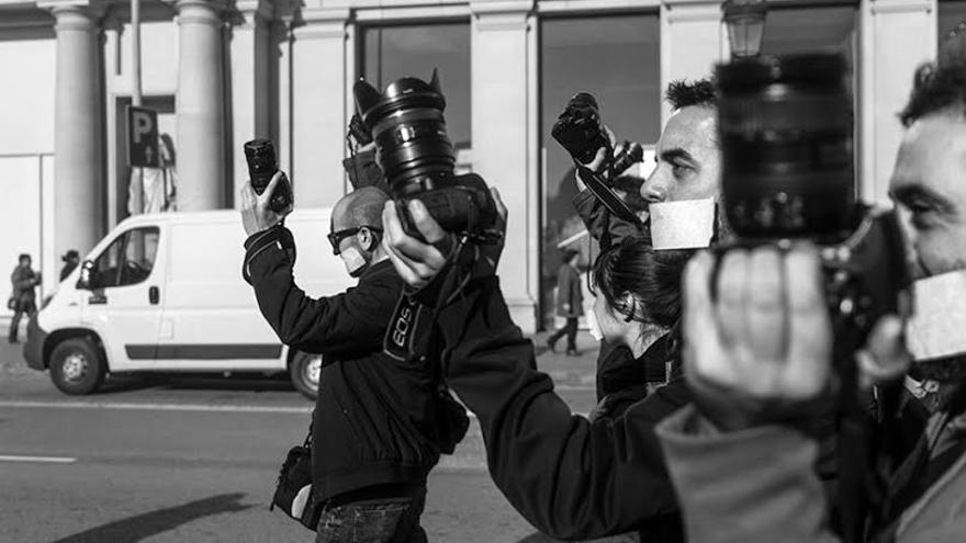 Protesta contra la ley mordaza. /Bru Aguiló