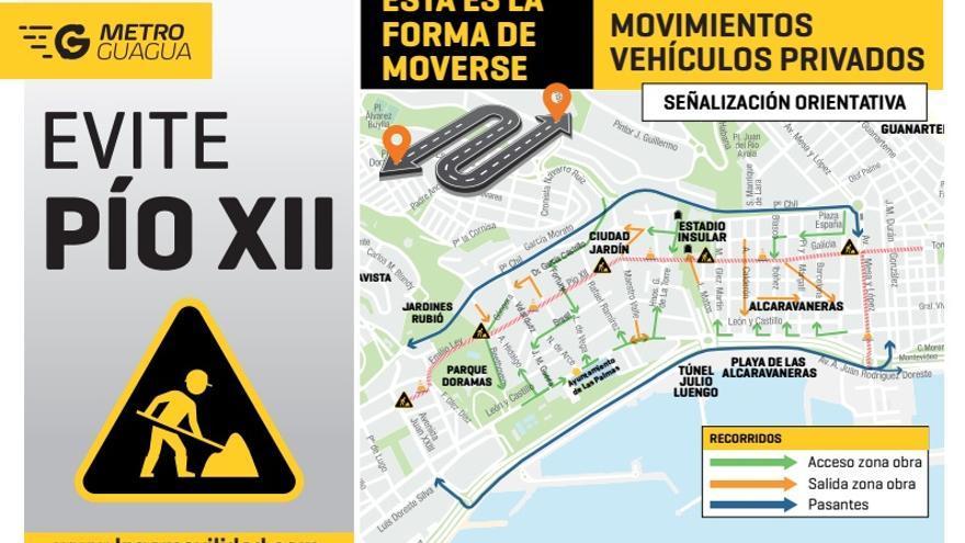 La previsión inicial por parte de la Constructora San José, empresa responsable de ejecutar la obra en el tramo de Pío XII, establece que nunca quedará cortada esta vía de la ciudad, salvo causa mayor.