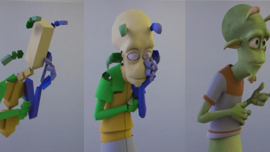 Cómo se forma un personaje (Foto: Ilion Animation Studios, Planet 51, Lucía El Asri)