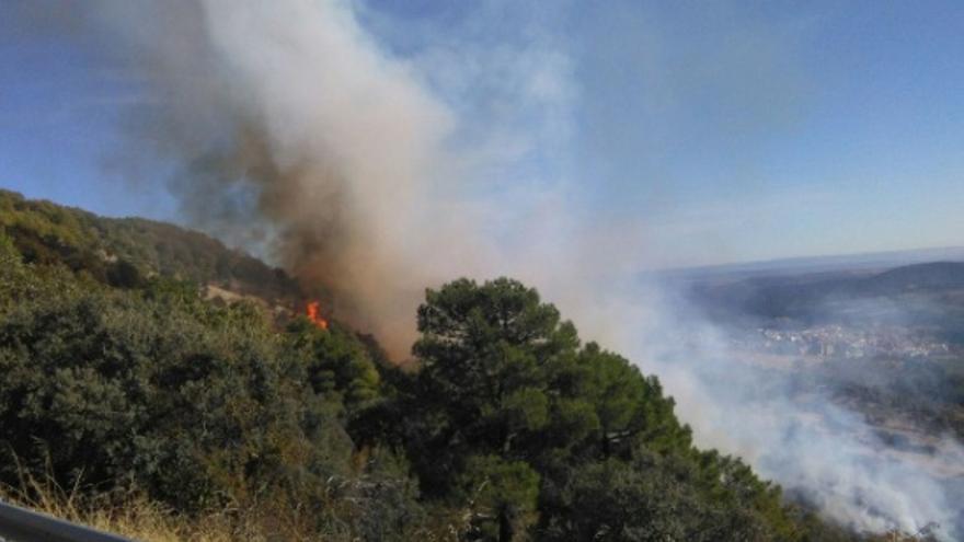 Incendio en Guadalupe / @Junta_Agricultu