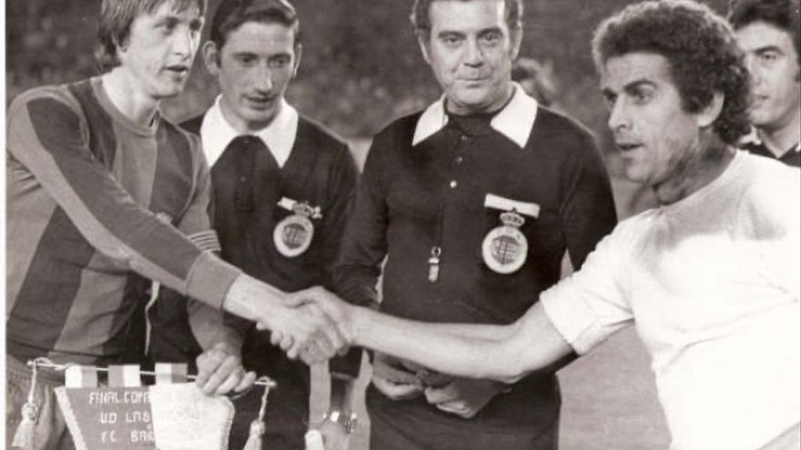 Imagen de los prolegómenos de la final de Copa de 1978.