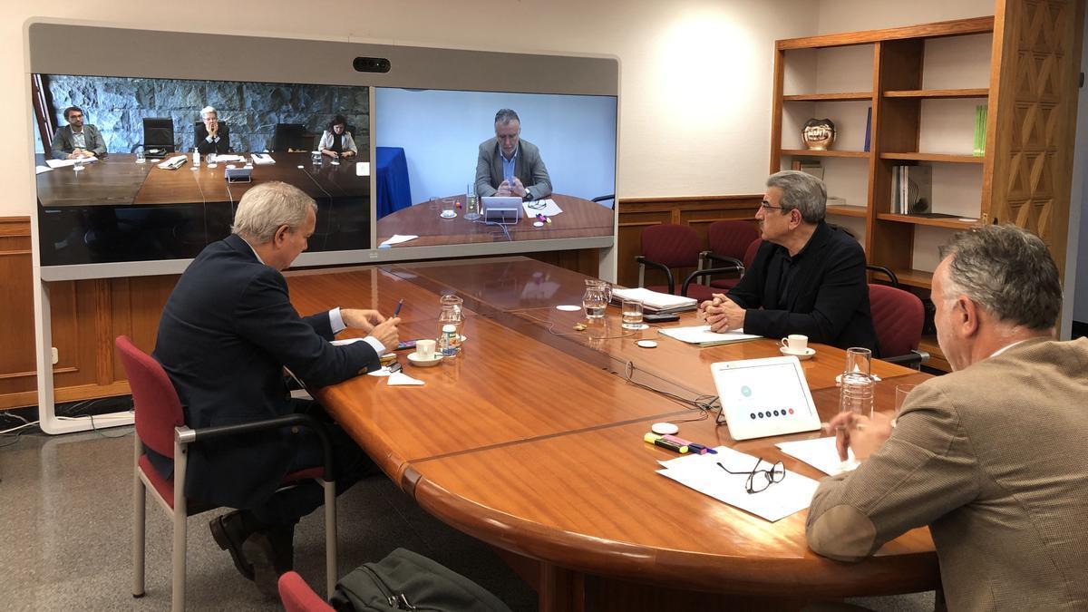 Reunión de parte del Comité de Gestión de Emergencia Sanitaria de Canarias.