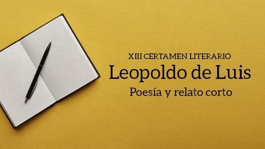Cartel del certamen literario Leopoldo de Luis