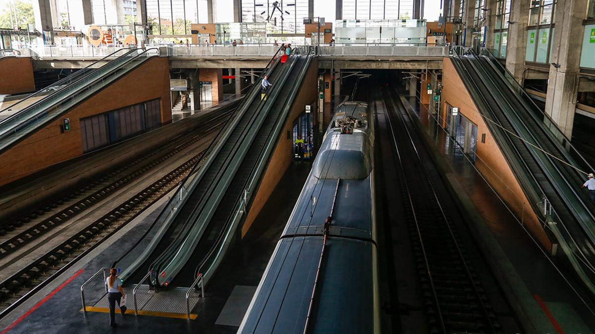 Trenes en la estación