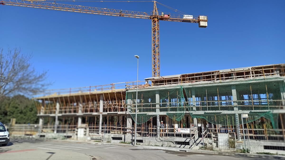 Obras de construcción de pisos, en una imagen de archivo.