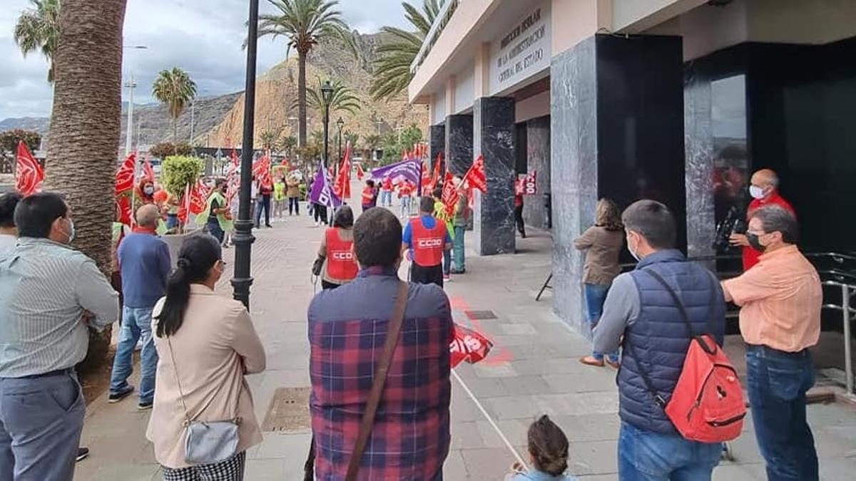 Concentración celebrada este sábado. Foto: RRSS PSOE LA PALMA