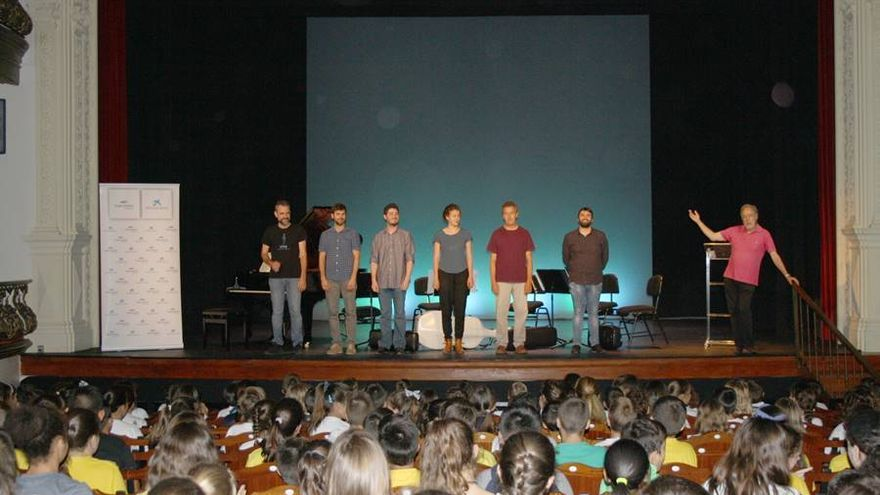 Imagen de archivo de una de las jornadas del proyecto educativo de 'La Palma Festival Internacional de Música'.