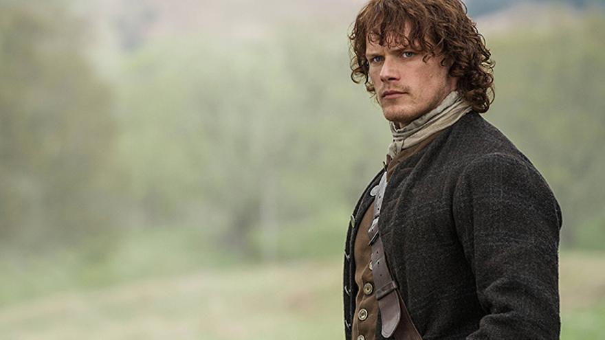 Sam Heughan, como Jamie Fraser en 'Outlander'
