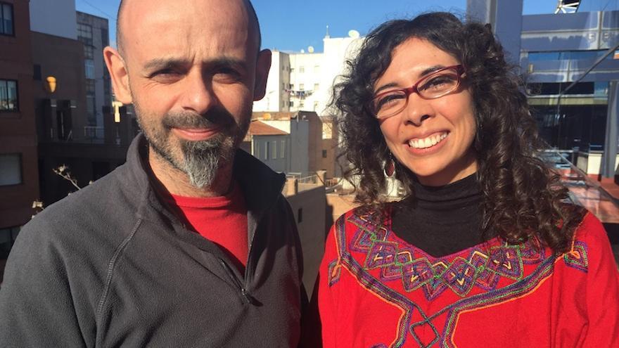 Ana Barrios y Salva Lacruz durante la entrevista (Ayuda en Acción)