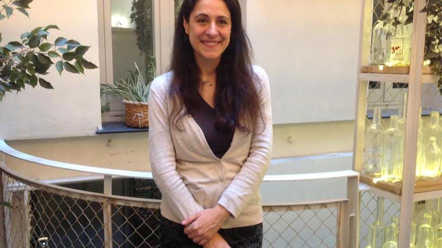 Yolanda Morató en la presentación de su libro 'Ahora'
