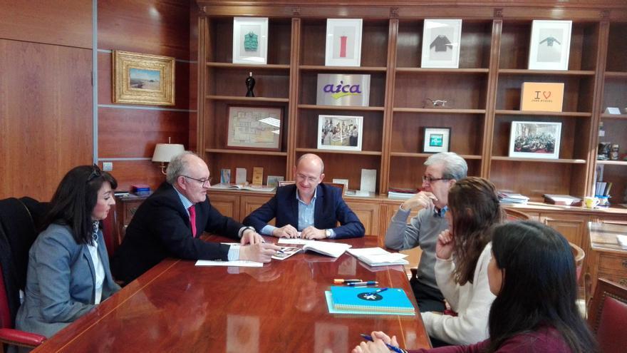 En la imagen, un momento de la reunión