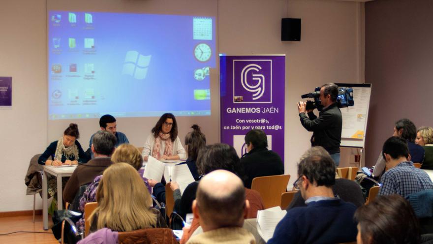 Una de las asambleas que ha desembocado en el nacimiento de 'Jaén en común'